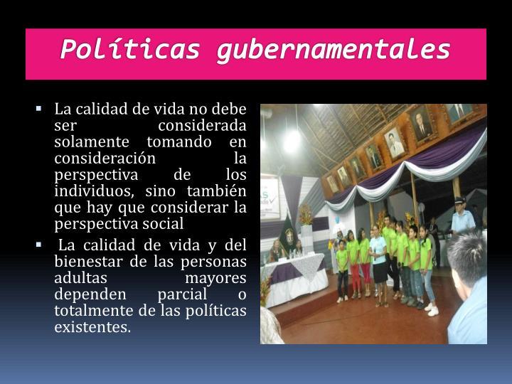 Políticas gubernamentales
