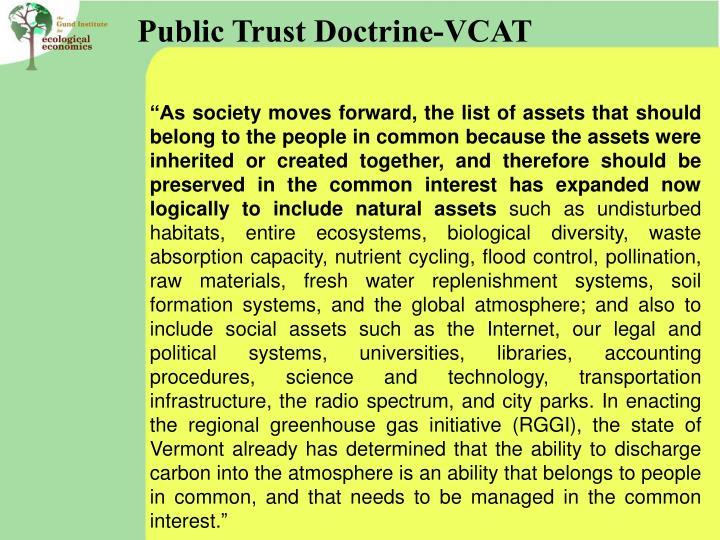 Public Trust Doctrine-VCAT