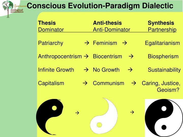 Conscious Evolution-Paradigm Dialectic