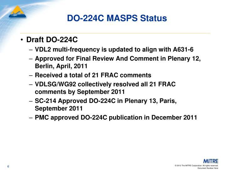 DO-224C MASPS Status