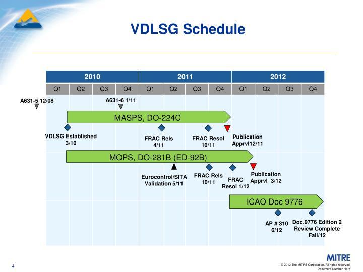 VDLSG Schedule