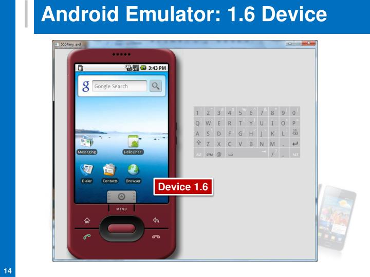 Android Emulator: 1.6 Device