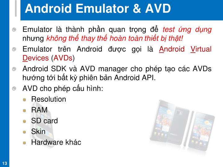 Android Emulator & AVD
