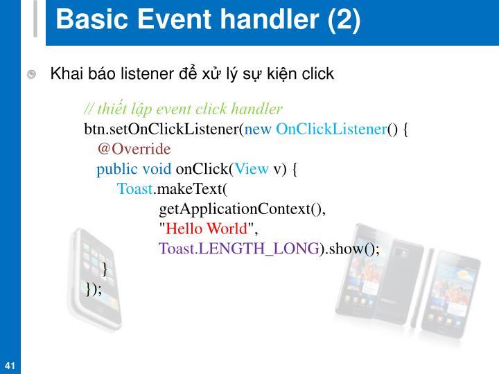 Basic Event handler (2)