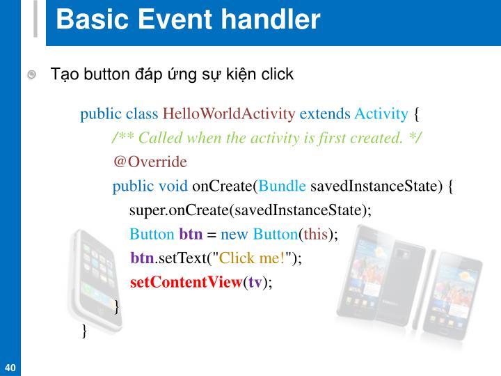 Basic Event handler