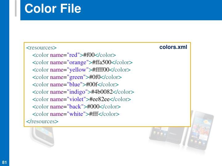 Color File