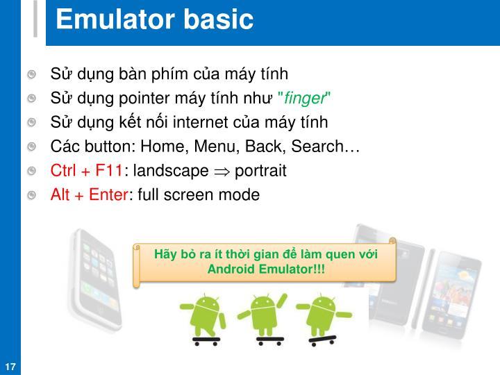 Emulator basic