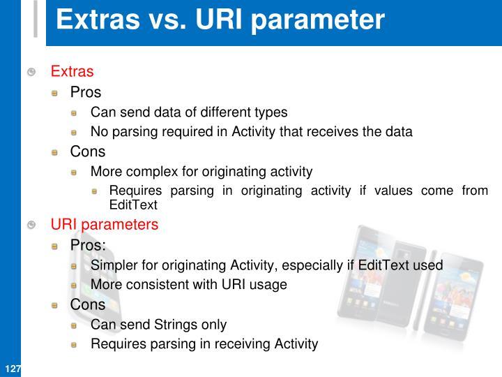 Extras vs. URI parameter