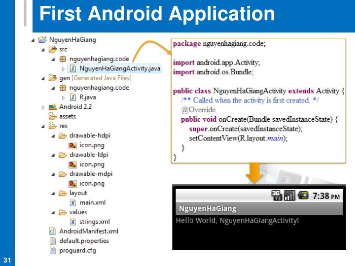 First Android Application