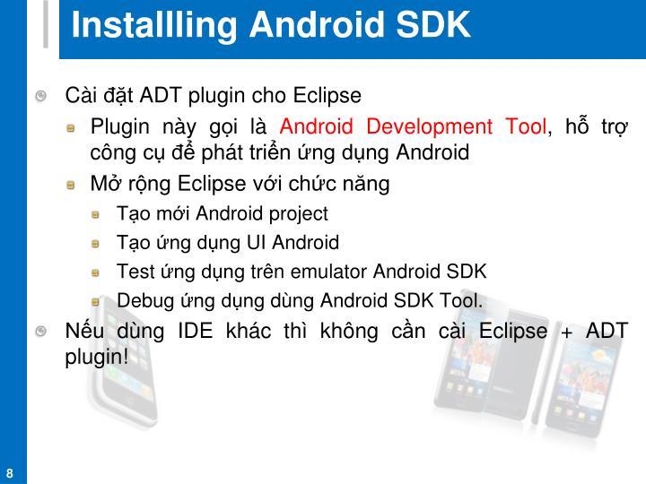 Installling Android SDK
