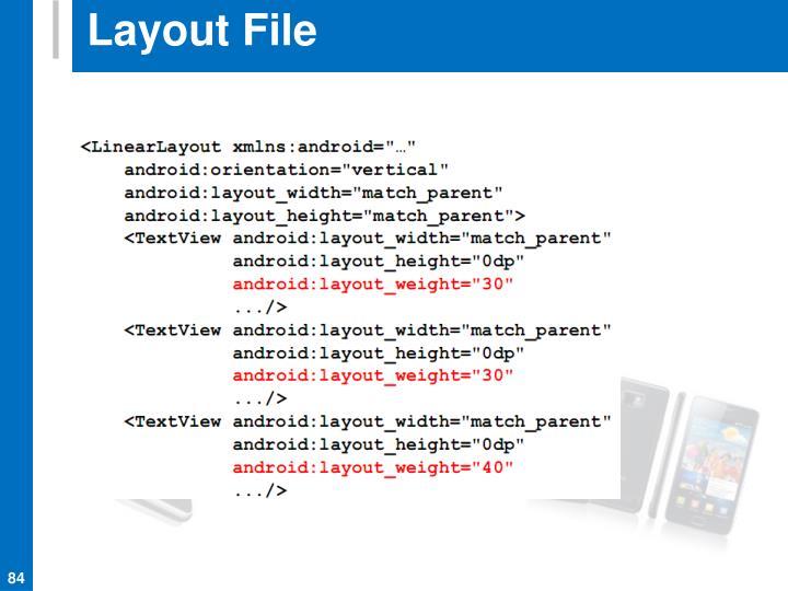 Layout File