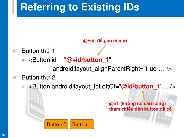 Referring to Existing IDs