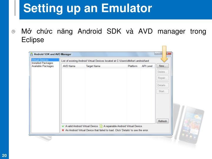 Setting up an Emulator
