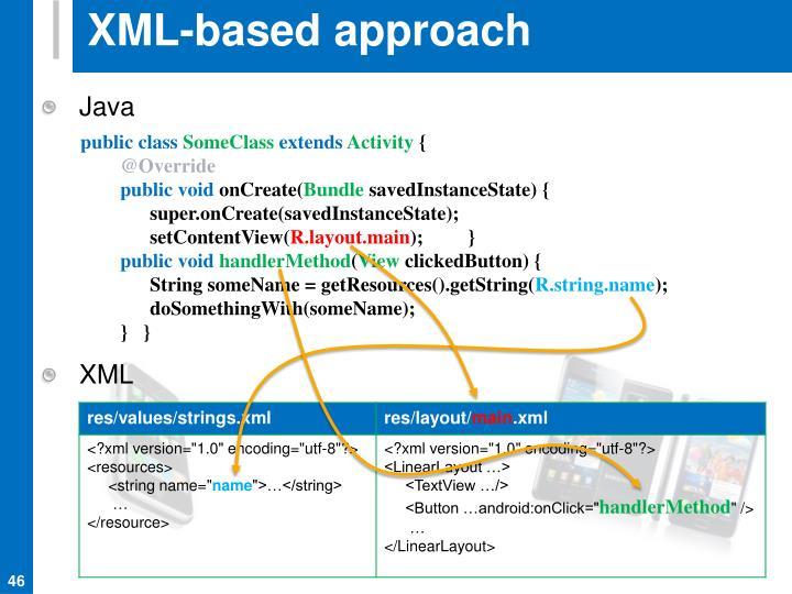 XML-based approach
