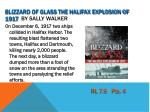 blizzard of glass the halifax explosion of 1917 by sally walker