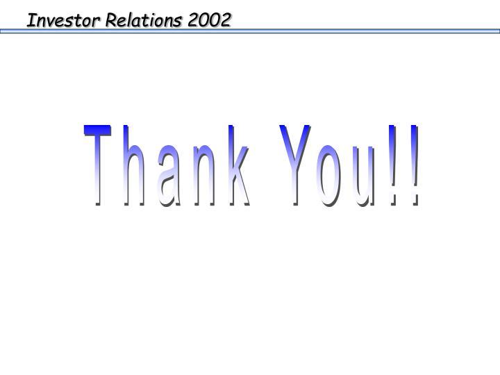 Investor Relations 2002