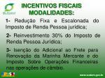 incentivos fiscais modalidades