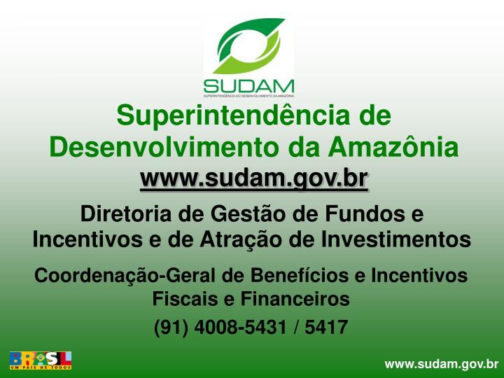 Superintendência de Desenvolvimento da Amazônia