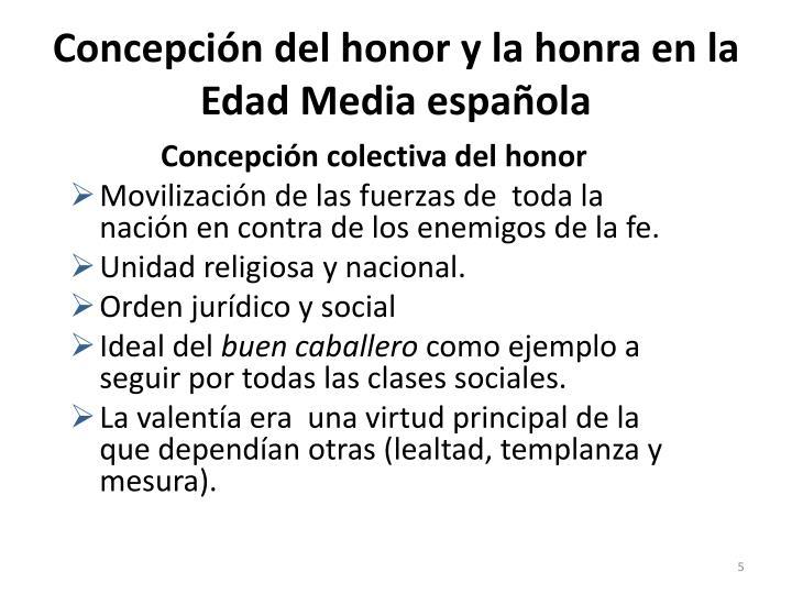 Concepción del honor y la honra en la Edad Media española