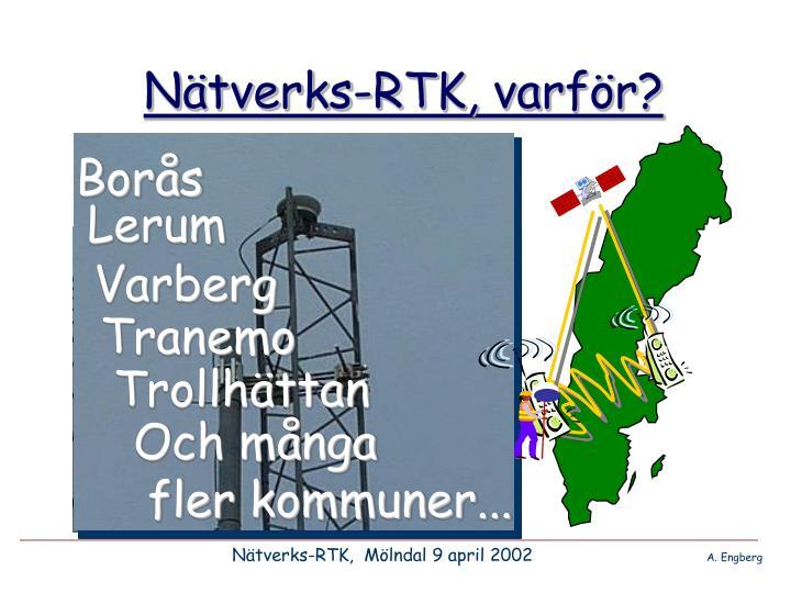 Nätverks-RTK, varför?