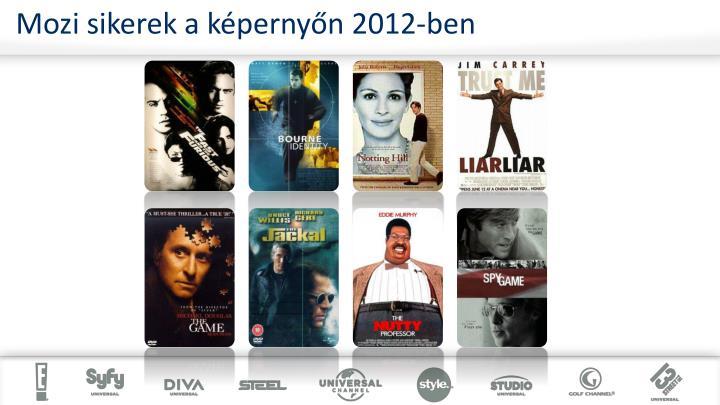 Mozi sikerek a képernyőn 2012-ben