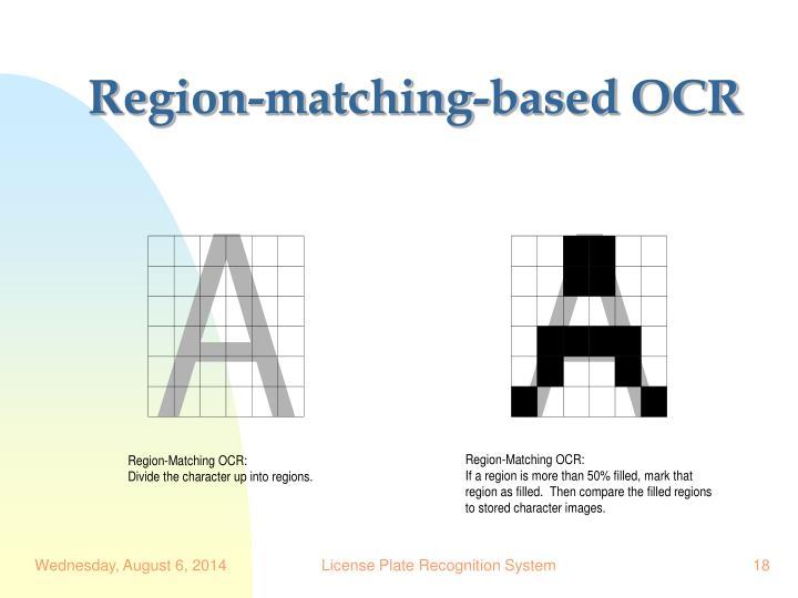 Region-matching-based OCR