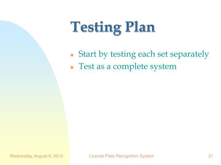 Testing Plan