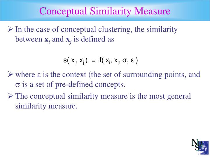 Conceptual Similarity Measure