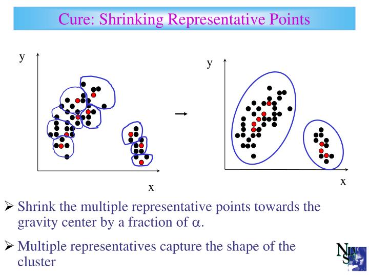 Cure: Shrinking Representative Points