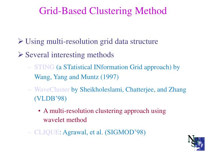 Grid-Based Clustering Method