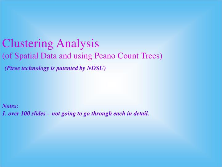 Clustering Analysis