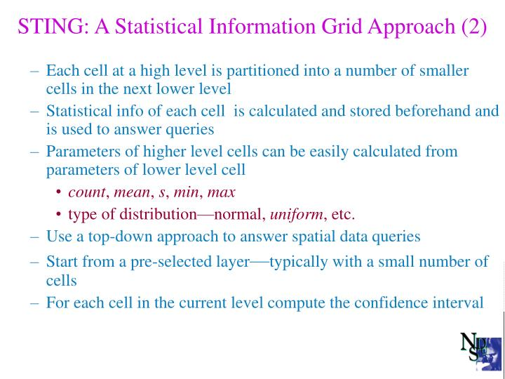 STING: A Statistical Information Grid Approach (2)