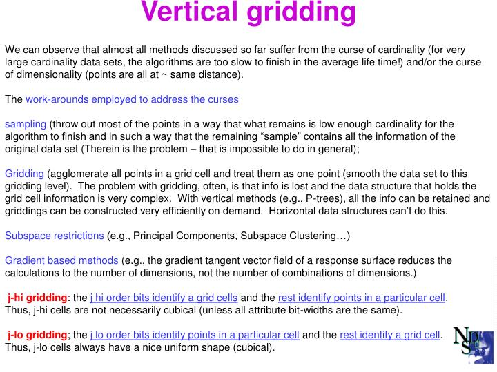 Vertical gridding