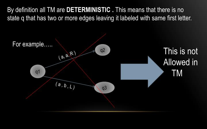 By definition all TM are