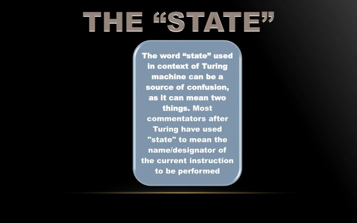 """THE """"STATE"""""""