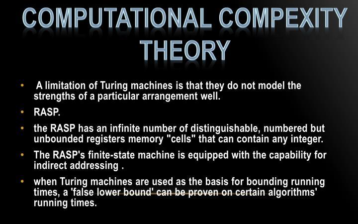 COMPUTATIONAL COMPEXITY