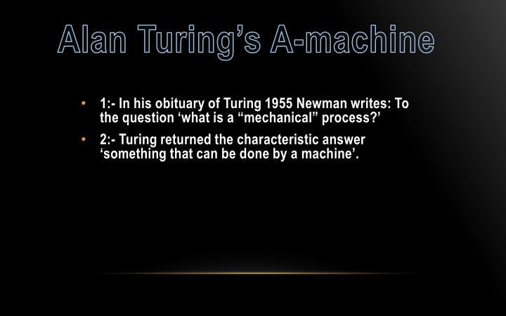 Alan Turing's