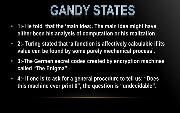 Gandy States