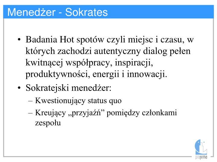 Menedżer - Sokrates