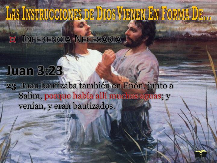 Las Instrucciones de Dios Vienen En Forma De…