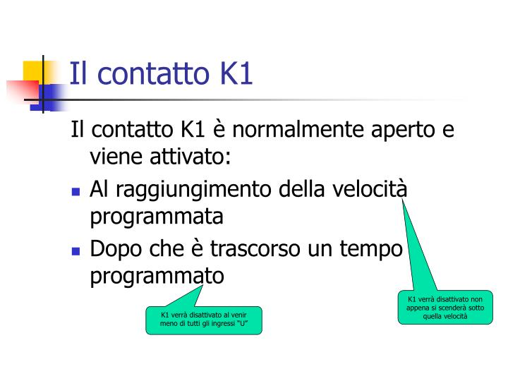 Il contatto K1
