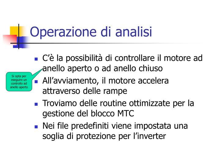 Operazione di analisi