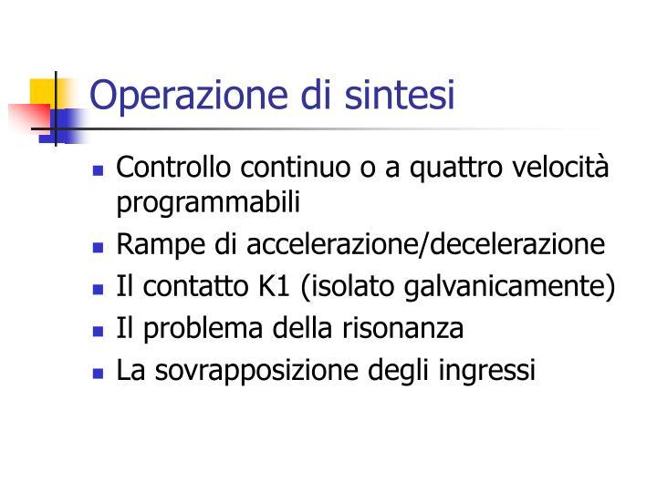 Operazione di sintesi