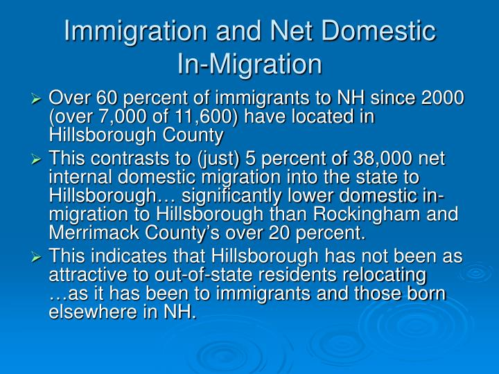Immigration and Net Domestic