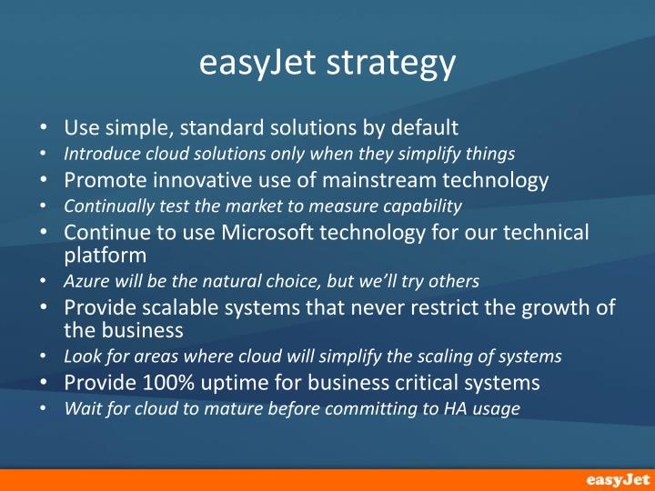 easyJet strategy