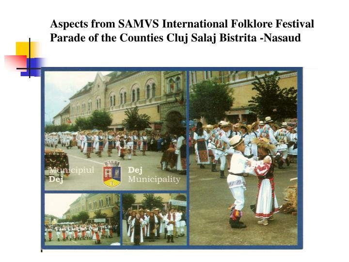 Aspects from SAMVS International Folklore Festival  Parade of the Counties Cluj Salaj Bistrita -Nasaud