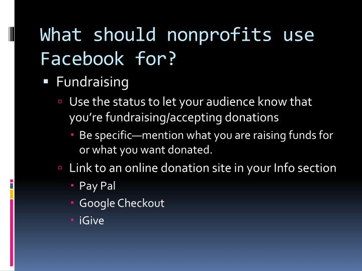 What should nonprofits use