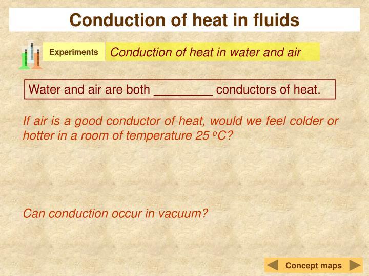 Conduction of heat in fluids