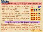 microscopic interpretation of conduction