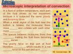 microscopic interpretation of convection